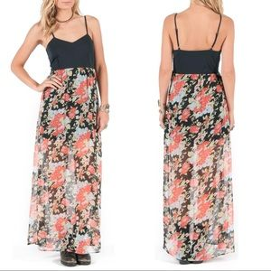 Volcom Rosebud Floral Maxi Dress